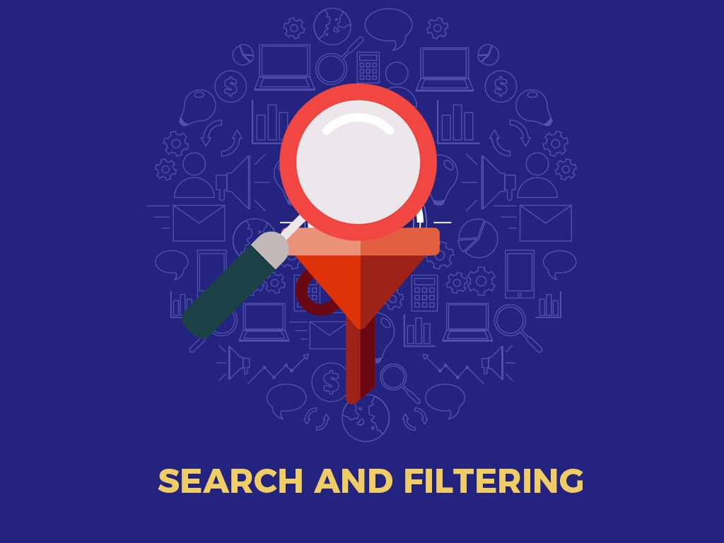 SEARCH AND FILTER