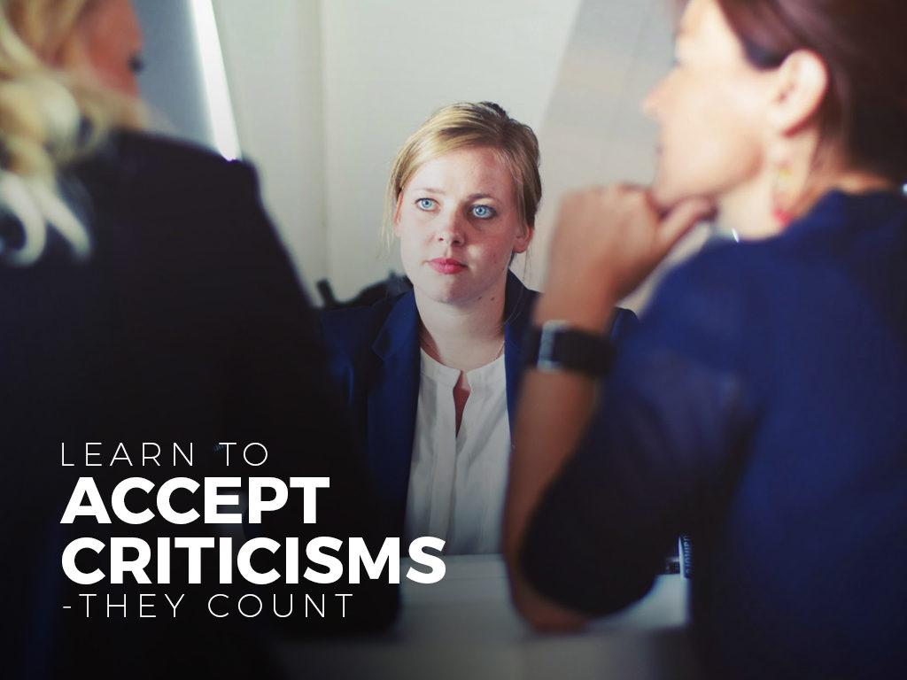 accept criticisms
