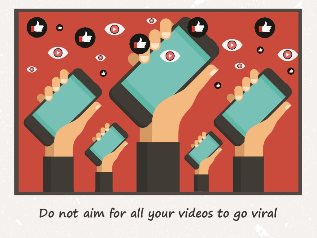 Do not aim for all your videos to go viral