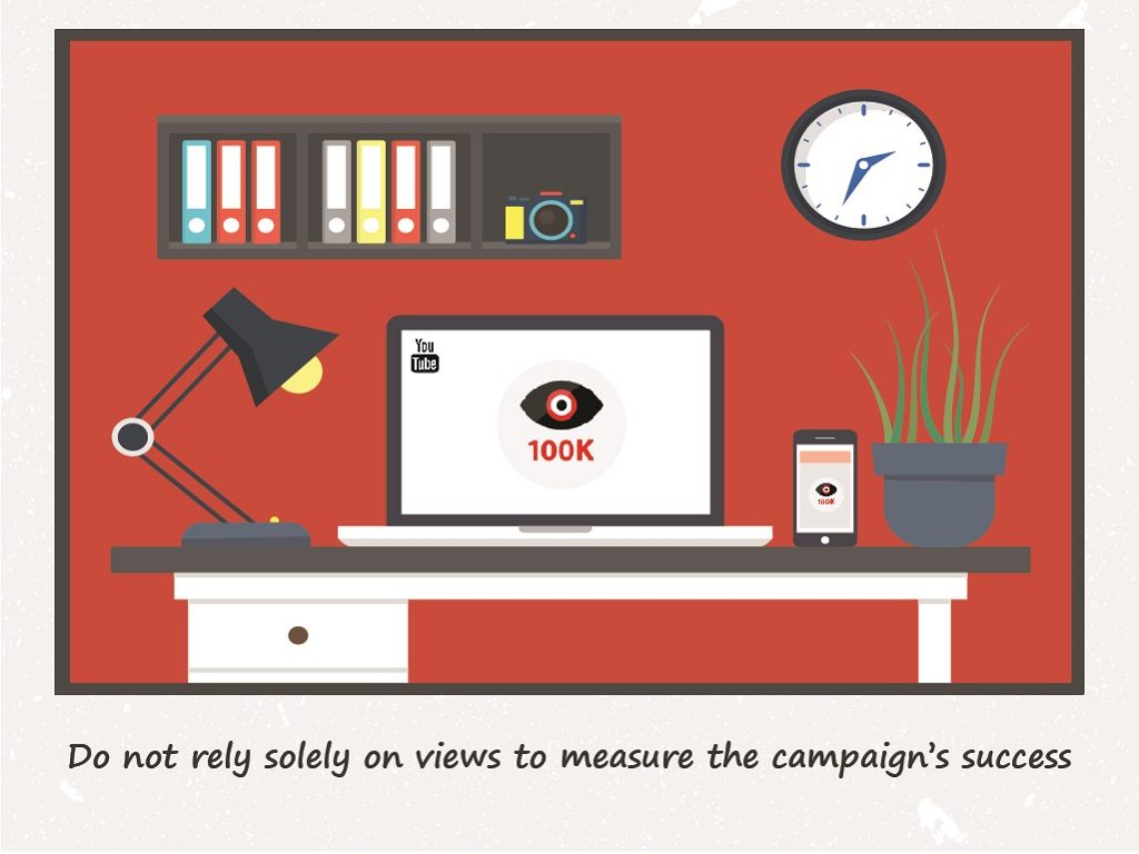 Do not rely solely on views to measure the campaign's success