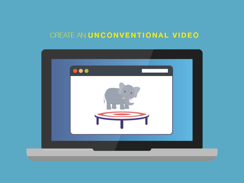 create an unconventional video