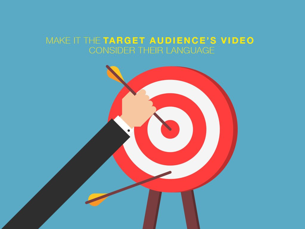 center video to target audience